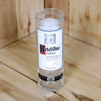 Upcycled Ketel One Vodka Vase made from a bottle
