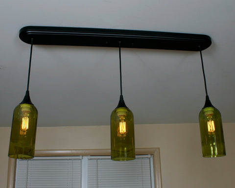 Chardonnay Wine Bottle 3 Pendant Light