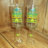 Upcycled Landshark Lager Chalices Redneck Wine Glasses