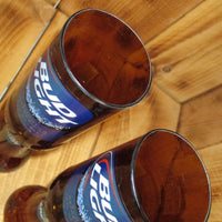 Pair of Upcycled Bud Light Chalices Redneck Wine Glasses