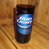 Upcycled Bud Light Pint Glass made from a bottle