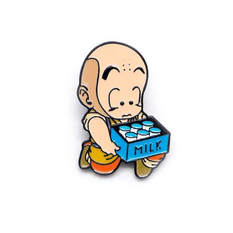 Free Young Krillin Milk Delivery Dragon Ball Z DBZ Anime Enamel Pin Just Pay Shipping