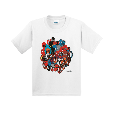 Spiderman Marvel Comic Book Spider Verse Costume Inspired Art Youth Tee T-Shirt By Connor Kim