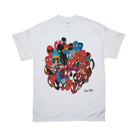 Spiderman Marvel Comic Book Spider Verse Costume Inspired Art Unisex Adult Tee T-Shirt By Connor Kim