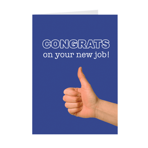 Luck For New Jobs Greeting Card