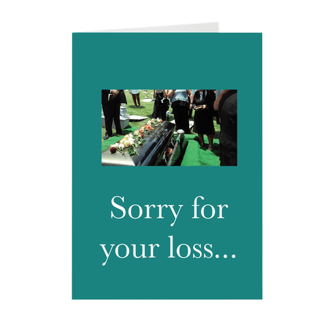 Funny Sorry For Your Loss Dancing Coffin Guys Meme Greeting Card