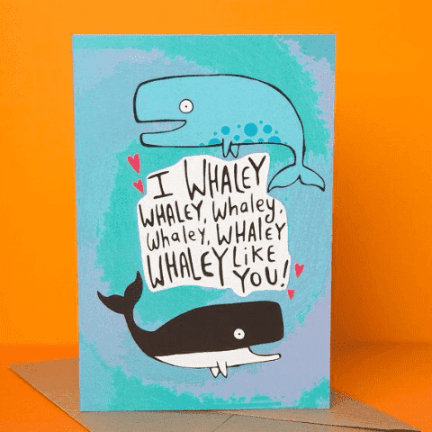 I Whaley Whaley Whaley Like You Funny Anniversary Card Valentines Day Card FREE SHIPPING