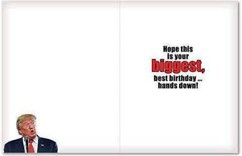 picture regarding Donald Trump Birthday Card Printable referred to as Amusing President Trump Birthday Card - Jumbo\