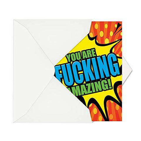 Humorous Birthday Card To Wish A Freakin Great Day With Envelope
