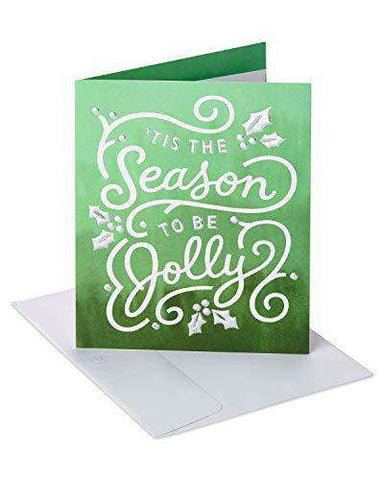 American Greetings Jolly Happy Holidays Card with Foil, Funny Christmas Cards - Free Shipping