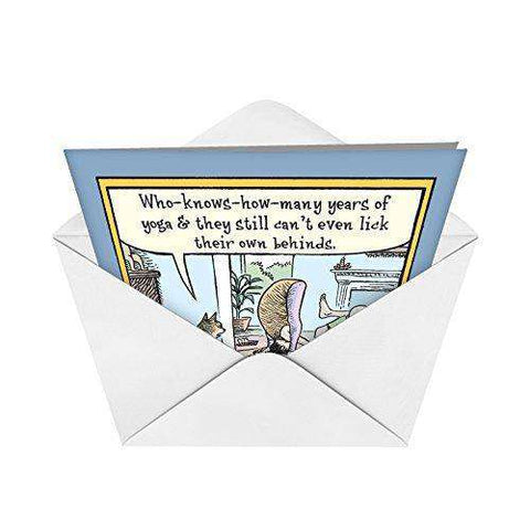 Yoga Lick Behinds Hilarious Birthday Paper Card Funny