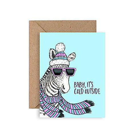 Zebra Card , Funny Christmas Cards Boxed Set , Funny Greeting Cards , Free  Shipping