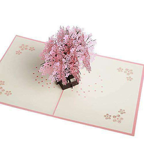 Cherry Blossom Pop Up Card Funny Birthday Cards Flowers Greeting Thank You