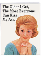 Big Happy Birthday Card - Hilarious Greeting Card 'Everyone Kiss My As Card' - Funny Birthday Card - Free Shipping