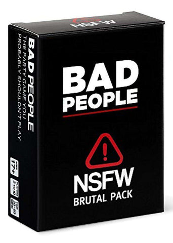 Bad People: NSFW Brutal Expansion Pack The Party Game You Probably Shouldn't Play FREE US SHIPPING