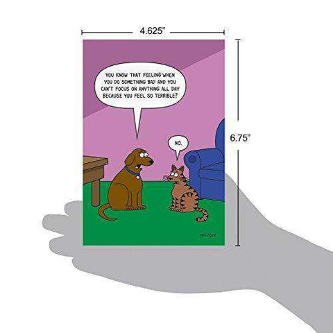 Dog Guilt Humorous Birthday Card Funny