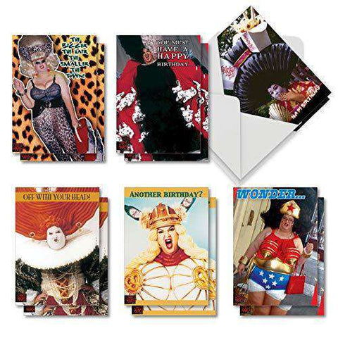 Chris March Madness Assorted Box Of 12 Funny Birthday Cards
