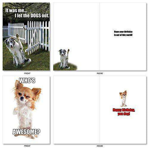 10 Dog Birthday Assortment Cards