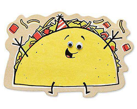American Greetings Funny Taco Birthday Card With Googly Eyes