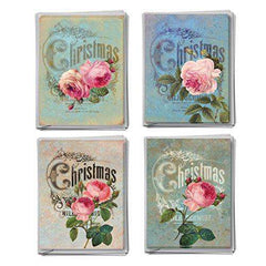 12 Assorted Christmas Cards Featuring Images of Eye-Popping Flowers and Funny Christmas cards - Free Shipping