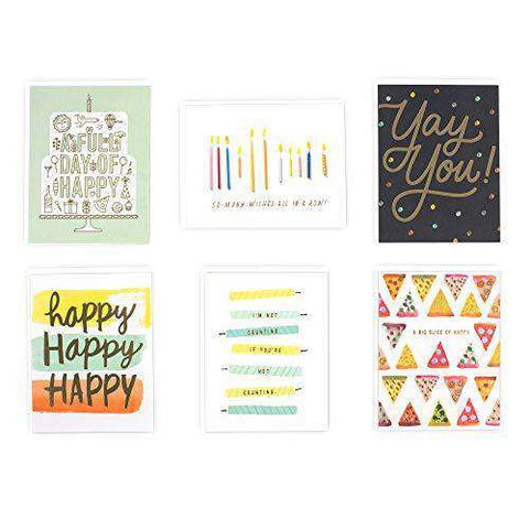 Hallmark 6 Birthday Card Assortment Funny