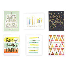Hallmark 6 Birthday Card Assortment, Funny Birthday Card - Free Shipping