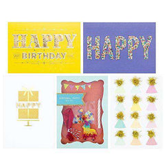 Hallmark Signature Birthday Cards Assortment (5 Cards with Envelopes) - Funny Birthday Cards - Free Shipping