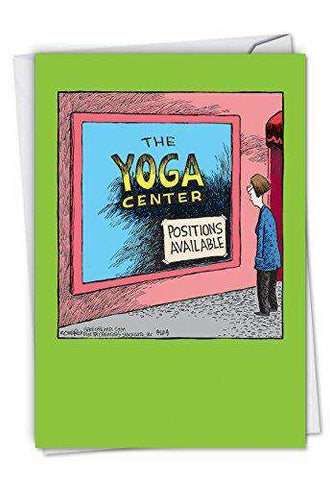 Yoga Center Hysterical Birthday Greeting Card Funny