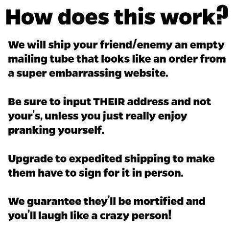 Ship Your Friends an Embarrassing Box Prank: Micro Penis Cure - FREE US  SHIPPING
