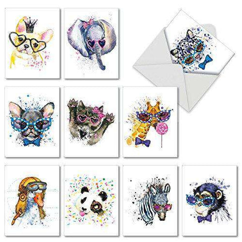 10 Assorted Thank You Note cards - Funny Christmas Cards - Free Shipping