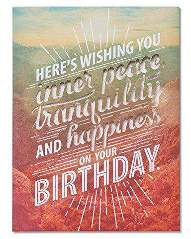 American Greetings Funny Inner Peace Birthday Card - Funny Birthday Cards - Free Shipping
