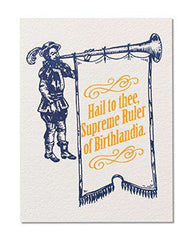 "American Greetings Funny""Birthlandia"" Birthday Card - Free Shipping"