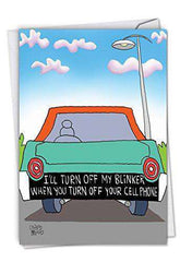 Turn Off Blinker: Hilarious Birthday Greeting Card, Funny Birthday Card - Free Shipping