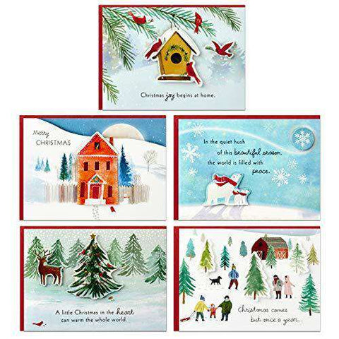 Hallmark Christmas Cards.Set Of 5 Hallmark Paper Wonder Pop Up Christmas Cards Assortment With 5 Different Funny Christmas Cards Free Shipping
