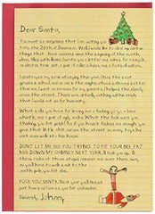 Dear Santa Cards - Funny Merry Christmas Greeting Card - Free Shipping