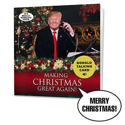 Talking Trump Christmas Card Wishes Merry Christmas In Donald