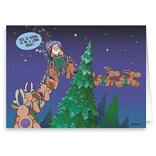 Funny Christmas Card , 18 Cards and Envelopes , Greeting Cards , Free  Shpping