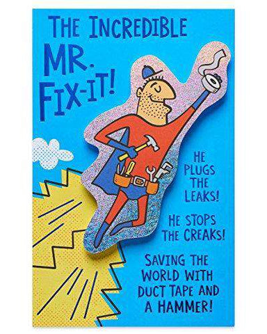 American Greetings Funny Mr Fix It Birthday Card With Foil