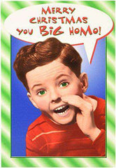You Big Homo Card  - Funny Merry Christmas Greeting Card  - Free Shipping