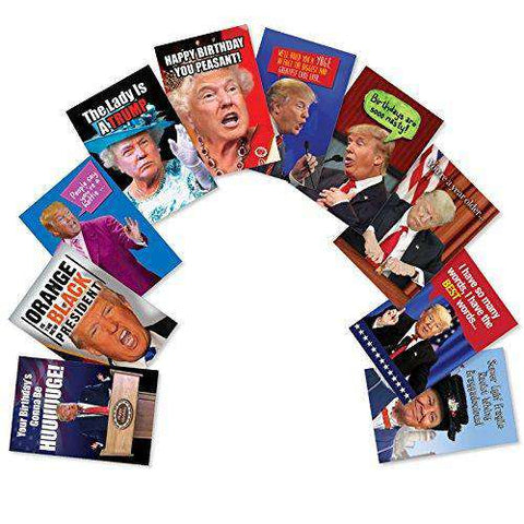 Assorted Birthday Cards Featuring Hilarious President Donald Trump Pho Unwelcome Greetings