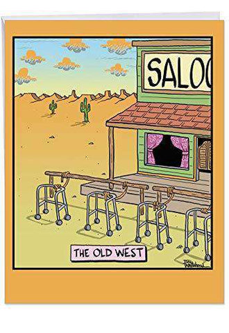 The Old West Birthday Big Greeting Card