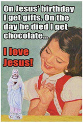 I Love Jesus Card - Funny Merry Christmas Greeting Card, Funny Christmas Cards - Free Shipping