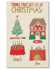 American Greetings Funny Lit Christmas Card with Glitter - Free Shipping
