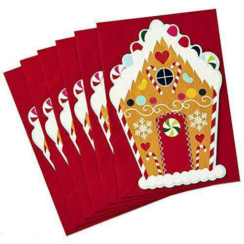 Hallmark Christmas Cards.Hallmark Christmas Cards Pack Gingerbread House With 6 Funny Christmas Cards Free Shipping