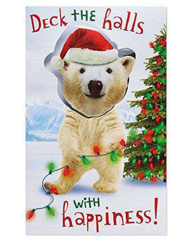 American Greetings , Dancing Polar Bear Christmas Card with Music, Funny  Christmas Cards , Free Shipping