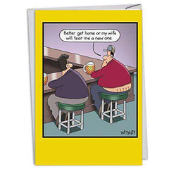 New One - Funny Birthday Card, with Envelope - Funny note Cards - Free Shipping