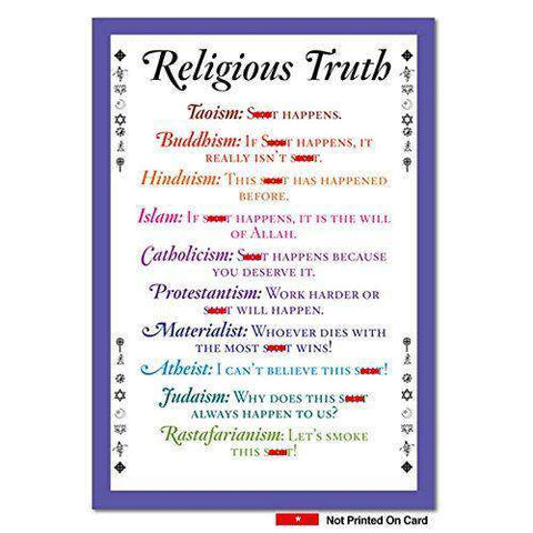 Religious Truth Unique Funny Birthday Card - Free Shipping
