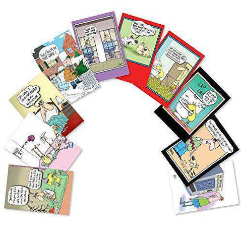 assorted boxed of 10 new years punch lines humorous new year cards with envelopes
