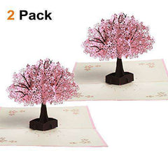 Cherry Blossom Pop Up Card, Funny Birthday Cards, Flowers Greeting Thank You Card, Anniversary Gifts - Free Shipping