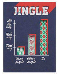 American Greetings Funny Jingle Christmas Card with Glitter, Funny Christmas Cards - Free Shipping